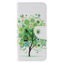 Patty peňaženkové puzdro na Asus Zenfone 4 Max ZC554KL - zelený strom