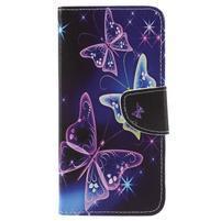 Patty peňaženkové puzdro na Asus Zenfone 4 Max ZC554KL - čarovné motýle