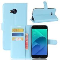 Litch PU kožené zapínacie puzdro na Asus Zenfone 4 Selfie Pro ZD552KL - svetlomodré