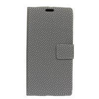 Wallet PU kožené puzdro na Asus Zenfone 4 Selfie Pro ZD552KL - šedé