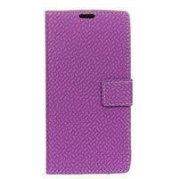 Wallet PU kožené puzdro na Asus Zenfone 4 Selfie Pro ZD552KL - fialové