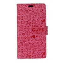 Cartoo knižkové puzdro na Asus Zenfone 4 Selfie Pro ZD552KL - rose