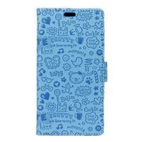 Cartoo knižkové puzdro na Asus Zenfone 4 Selfie Pro ZD552KL - modré