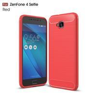 Carbo odolný gélový obal na mobil Asus Zenfone 4 Selfie ZD553KL - červený