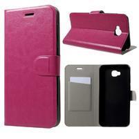 Horse PU kožené puzdro na mobil Asus Zenfone 4 Selfie ZD553KL - rose