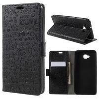 Cartoo PU kožené puzdro na Asus Zenfone 4 Selfie ZD553KL - čierne