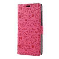 Cartoo PU kožené puzdro na Asus Zenfone 4 Selfie ZD553KL - rose