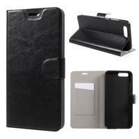 Horse pU kožené puzdro na mobil Asus Zenfone 4 ZE554KL - čierne