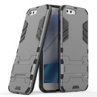 Armory odolný obal so stojančekom na Asus Zenfone 4 ZE554KL - šedý