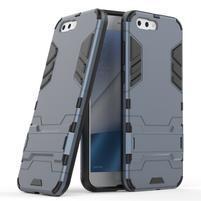Armory odolný obal so stojančekom na Asus Zenfone 4 ZE554KL - modrošedý