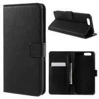 Peňaženkové zapínacie puzdro na Asus Zenfone 4 ZE554KL - čierne