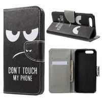 Emotive knižkové puzdro na Asus Zenfone 4 ZE554KL - Don´t touch!