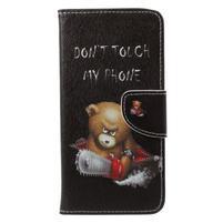 Emotive knižkové puzdro na Asus Zenfone 4 ZE554KL - nezbedný medvedík