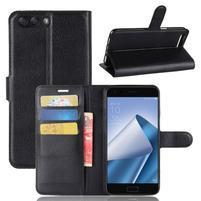 Litch PU kožené puzdro na mobil Asus Zenfone 4 ZE554KL - čierne