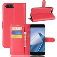 Litch PU kožené puzdro na mobil Asus Zenfone 4 ZE554KL - červené