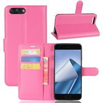 Litch PU kožené puzdro na mobil Asus Zenfone 4 ZE554KL - rose