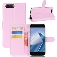 Litch PU kožené puzdro na mobil Asus Zenfone 4 ZE554KL - ružové