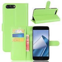 Litch PU kožené puzdro na mobil Asus Zenfone 4 ZE554KL - zelené
