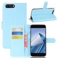 Litch PU kožené puzdro na mobil Asus Zenfone 4 ZE554KL - modré