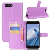 Litch PU kožené puzdro na mobil Asus Zenfone 4 ZE554KL - fialové