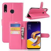 Litchi PU kožené puzdro na Asus Zenfone 5 ZE620KL - rose