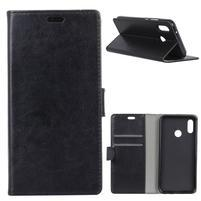 Wall PU kožené puzdro na Asus Zenfone 5 ZE620KL - čierne