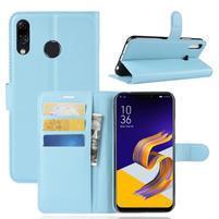 Litchi PU kožené puzdro na Asus Zenfone 5 ZE620KL - modré
