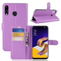 Litchi PU kožené puzdro na Asus Zenfone 5 ZE620KL - fialové