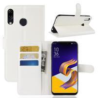 Litchi PU kožené puzdro na Asus Zenfone 5 ZE620KL - biele