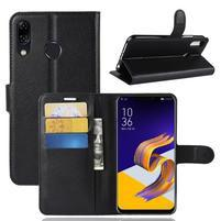 Litchi PU kožené puzdro na Asus Zenfone 5 ZE620KL - čierne