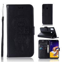 Dream PU kožené peňaženkové puzdro na Asus Zenfone 5Z ZS620KL - čierne