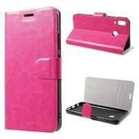 Horse peňaženkové puzdro na Asus Zenfone 5Z ZS620KL a Zenfone 5 ZE620KL - rose