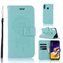 Dream PU kožené peňaženkové puzdro na Asus Zenfone 5Z ZS620KL - zelené