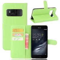 Graines PU kožené puzdro pre mobil Asus Zenfone AR ZS571KL - zelené