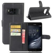 Graines PU kožené puzdro pre mobil Asus Zenfone AR ZS571KL - čierné