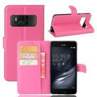 Graines PU kožené puzdro pre mobil Asus Zenfone AR ZS571KL - rose