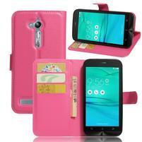 Peňaženkové puzdro pre Asus Zenfone Go ZB500KL - rose