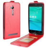 Flipové PU kožené puzdro na mobil Asus Zenfone Go ZB500KL - červené