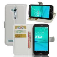Peňaženkové puzdro pre Asus Zenfone Go ZB500KL - biele