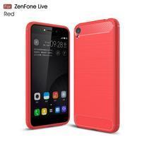 Carbon odolný gélový obal na Asus Zenfone Live ZB501KL - červený