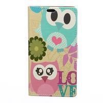 Flapy peňaženkové puzdro na Asus Zenfone Live ZB501KL - sovia láska