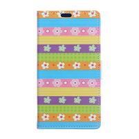 Flapy peňaženkové puzdro na Asus Zenfone Live ZB501KL - kvetinové pruhy