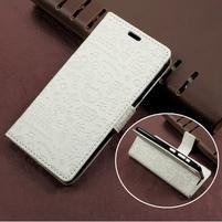Cartoo zapínacie peňaženkové puzdro na Asus Zenfone Live ZB501KL - biele