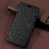 Cartoo zapínacie peňaženkové puzdro na Asus Zenfone Live ZB501KL - čierne