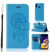 Printy PU kožené puzdro na Asus Zenfone Max (M1) ZB555KL - modré