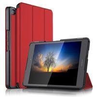 Trifold PU kožené polohovateľné puzdro na Asus ZenPad 3 8.0 Z581KL - červené