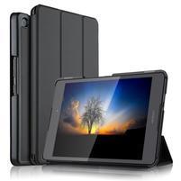 Trifold PU kožené polohovateľné puzdro na Asus ZenPad 3 8.0 Z581KL - čierne