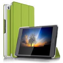 Trifold PU kožené polohovateľné puzdro na Asus ZenPad 3 8.0 Z581KL - zelené