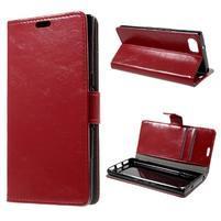 Wallet peňaženkové puzdro pre mobil BlackBerry Keyone - červené
