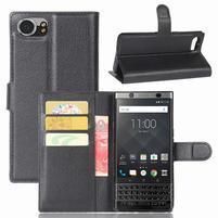 Graines knížkové PU kožené puzdro pre BlackBerry Keyone - čierné